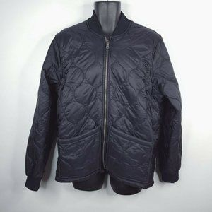 Ted Baker London Black Square Quilted Jacket 6